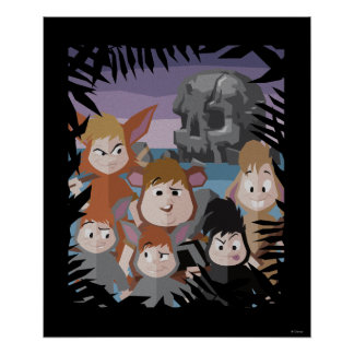 Peter Pan's Lost Boys At Skull Rock Poster