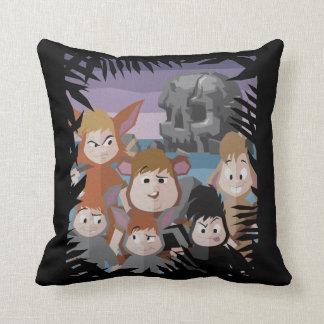 Peter Pan's Lost Boys At Skull Rock Throw Pillow