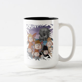 Peter Pan's Lost Boys At Skull Rock Two-Tone Coffee Mug