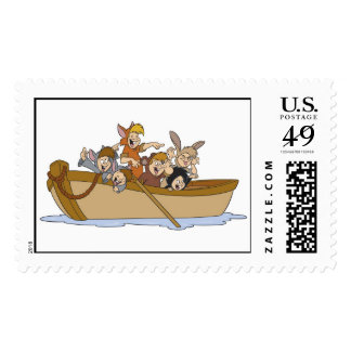 Peter Pan's Lost Boys in boat Disney Stamps