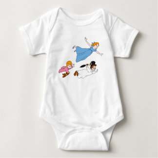 Peter Pan's Wendy, John and Michael Darling Flying Baby Bodysuit
