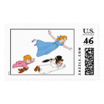 Peter Pan's Wendy, John and Michael Darling Flying Postage Stamps