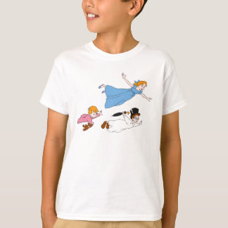 Peter Pan's Wendy, John and Michael Darling Flying T-Shirt