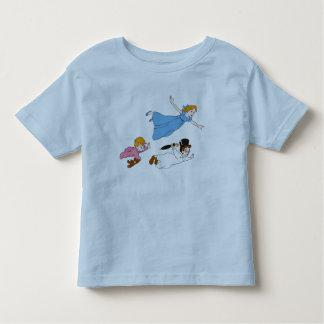 Peter Pan's Wendy, John and Michael Darling Flying Toddler T-shirt