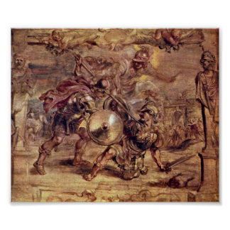 Peter Paul Rubens - Achilles defeated Hector Poster