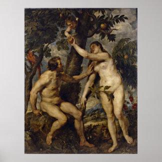Peter Paul Rubens - Adán y Eva Poster