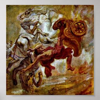 Peter Paul Rubens - caída del Phaethon Poster