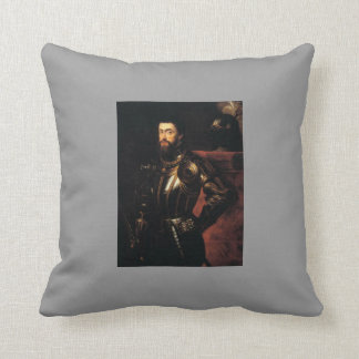 Peter Paul Rubens- Charles V in Armour Throw Pillow