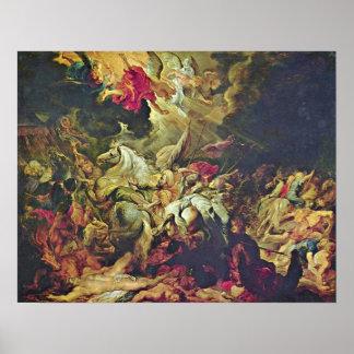 Peter Paul Rubens - derrota de Sennacherib Póster