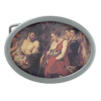 Peter Paul Rubens-Diana Presentig la captura a cri Hebilla Cinturón Oval