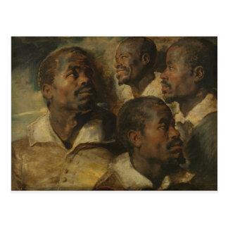 Peter Paul Rubens - Four Studies Postcard