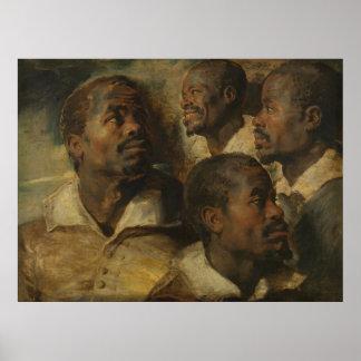 Peter Paul Rubens - Four Studies Poster