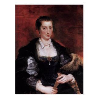 Peter Paul Rubens- Isabel Brandt, primera esposa Tarjeta Postal