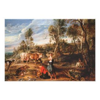 Peter Paul Rubens - lecheras con ganado Fotografías
