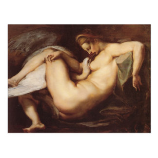 Peter Paul Rubens - Leda y el cisne Tarjetas Postales