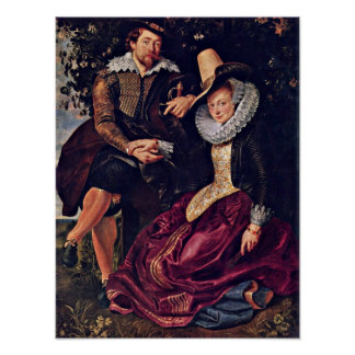 Peter Paul Rubens - Painter and his wife Poster