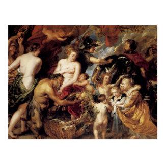 Peter Paul Rubens - paz y guerra Postal