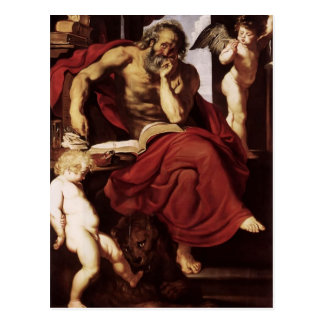 Peter Paul Rubens- St. Jerome in His Hermitage Postcard