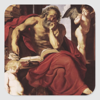 Peter Paul Rubens- St. Jerome in His Hermitage Stickers