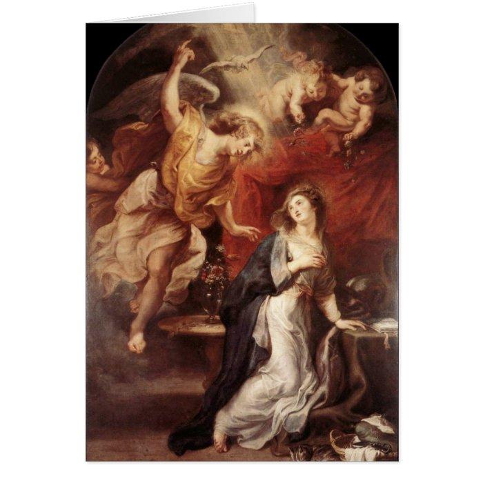 Peter Paul Rubens - The Annunciation Card