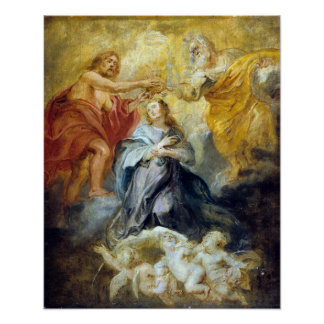 Peter Paul Rubens The Coronation of the Virgin Poster