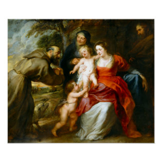 Peter Paul Rubens The Holy Family with Saints Poster