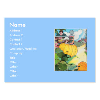 Peter, Peter, pumpkin-eater, Large Business Cards (Pack Of 100)
