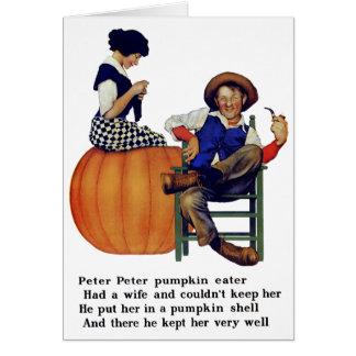 PETER PETER PUMPKIN EATER CARD