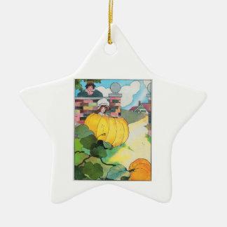 Peter, Peter, pumpkin-eater, Ceramic Ornament