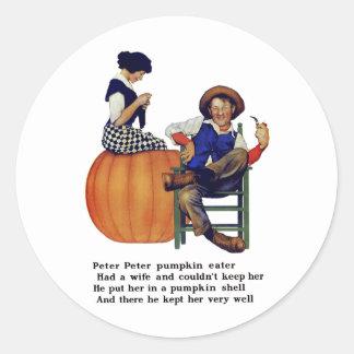 PETER PETER PUMPKIN EATER CLASSIC ROUND STICKER