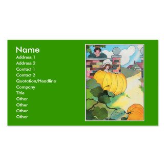 Peter, Peter, pumpkin-eater, Double-Sided Standard Business Cards (Pack Of 100)