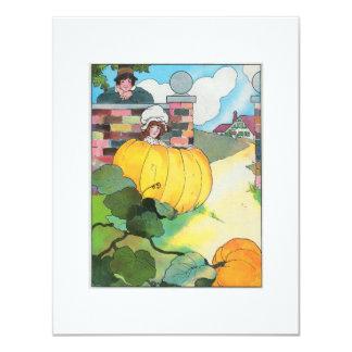 Peter, Peter, pumpkin-eater, 4.25x5.5 Paper Invitation Card