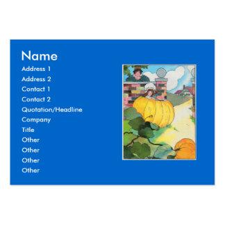 Peter, Peter, pumpkin-eater, Large Business Card