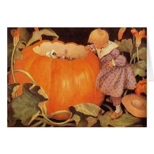 Peter, Peter, Pumpkin-Eater Nursery Rhyme - Card