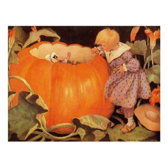 Peter, Peter, Pumpkin-Eater Nursery Rhyme Postcard