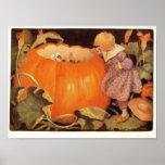 Peter, Peter, Pumpkin-Eater Nursery Rhyme Print