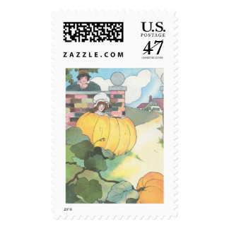 Peter, Peter, pumpkin-eater, Postage Stamp