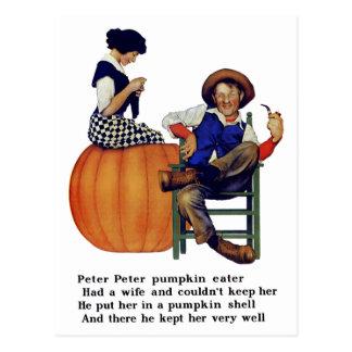 PETER PETER PUMPKIN EATER POSTCARD