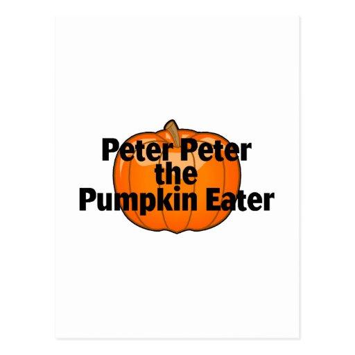 Peter Peter The Pumpkin Eater Postcard
