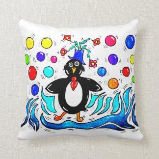 Peter Pinguin Throw Pillow