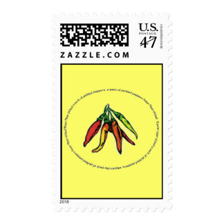 Peter Piper picked a peck of pickled peppers... Postage