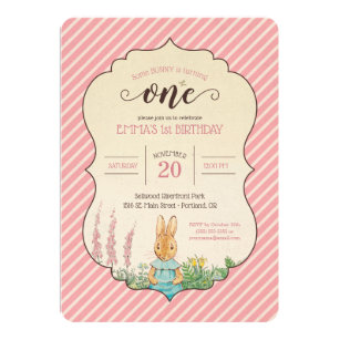 Peter rabbit invitations zazzle peter rabbit baby girls first birthday invitation filmwisefo