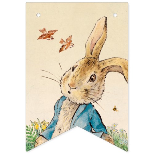 Peter Rabbit  Babys First Birthday Bunting Flags