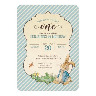 Peter Rabbit | Baby's First Birthday Invitation