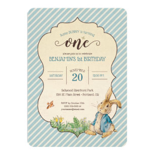 Peter rabbit invitations zazzle peter rabbit babys first birthday invitation filmwisefo