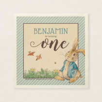 Peter Rabbit | Baby's First Birthday Napkin