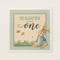 Peter Rabbit | Baby's First Birthday Napkin