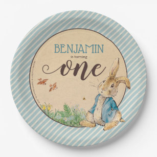Peter Rabbit | Babyu0027s First Birthday Paper Plate  sc 1 st  Zazzle : peter rabbit paper plates - pezcame.com