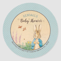 Peter Rabbit | Boy Baby Shower Classic Round Sticker