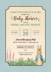 Rabbit Baby Shower Invitations Zazzle